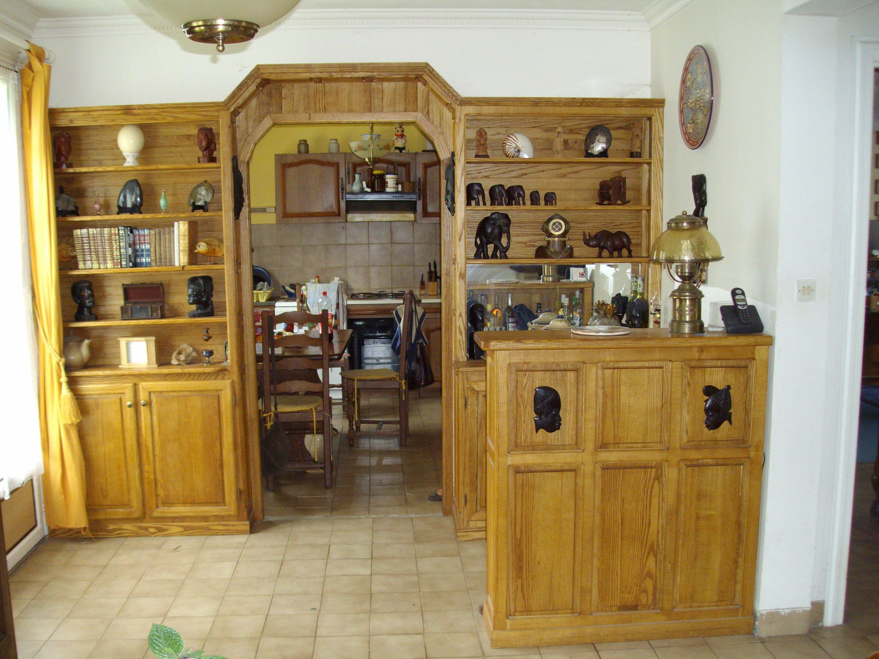 mur biblioth que avec porte int gr e aegm menuiserie. Black Bedroom Furniture Sets. Home Design Ideas
